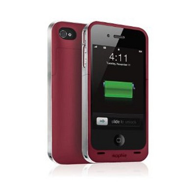 Juice Pack Air Case and Rechargeable Battery for iPhone 4 (Red)