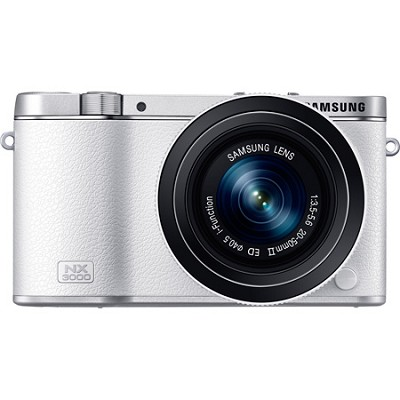 NX3000 20.3MP White Smart Compact System Camera with 20-50mm Power Zoom Lens