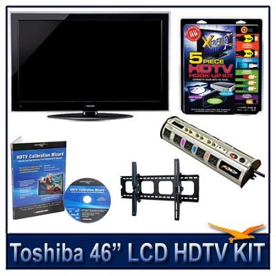 46` 1080p LCD HDTV + Hook-up Kit + Power Protection + Calibration + Tilt Mount