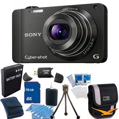 Cyber-shot DSC-WX10 Black Digital Camera 16GB Bundle