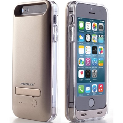 Power iPhone 5/5s External Protective Battery Case - MFI Apple Certified (Gold)