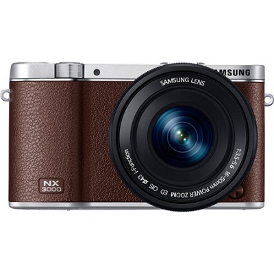 NX3000 20.3MP Brown Smart Compact System Camera with 16-50mm OIS Power Zoom Lens