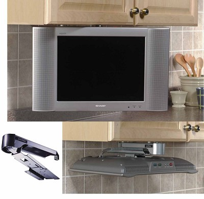 Under Cabinet Swivel Mount for select 13` and 15` LCD TV's (Silver) - OPEN BOX