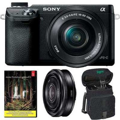 Alpha NEX-6 16.1 MP Camera with 16-50mm + SEL 20mm f2.8 Lens + Adobe Lightroom 5