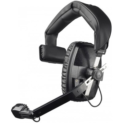 DT 108 200/50 Ohm Single-Ear Headset w/ Dynamic Hypercardioid Microphone - Black