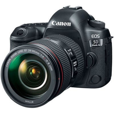 EOS 5D Mark IV 30.4 MP Full Frame DSLR Camera + EF 24-105mm f/4L IS II USM Lens