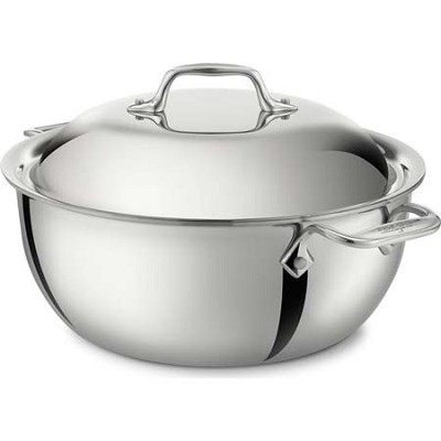 Stainless Steel 5-1/2-Quart Dutch Oven with Domed Lid