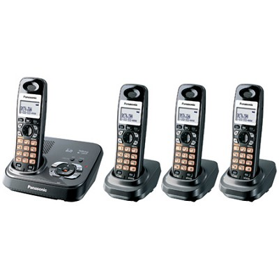 KX-TG9334T DECT 6.0 Expandable Digital Cordless Phone With 4 Handsets