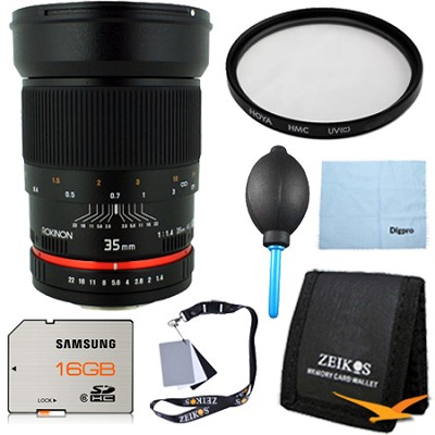 35mm f/1.4 Wide-Angle US UMC Aspherical Lens for Canon Pro Kit