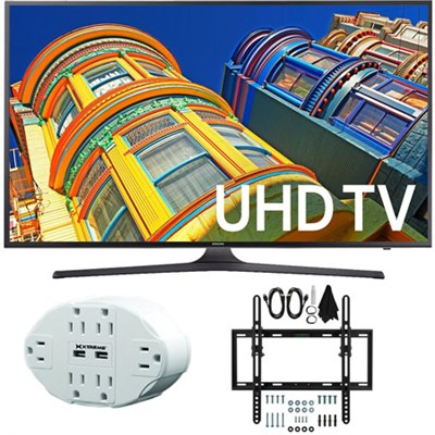 UN43KU6300 43-Inch 4K UHD HDR LED Smart TV KU6300 Tilt Wall Mount Bundle