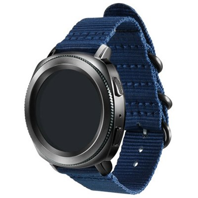 Studio Premium Nato Strap for Gear Sport (20mm) - Navy - GPR600BREECAB