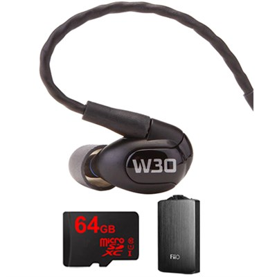W30 Triple Driver Premium InEar Monitor Noise Isolating Headphone w/ FiiO A3 Amp