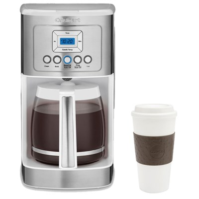 DCC-3200W Perfect Temp 14-Cup Programmable Coffeemaker White w/ Copco 16oz. Mug