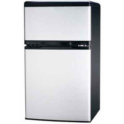 FR834 3.2 CU Ft Compact Fridge Freezer 2-Door, Platinum
