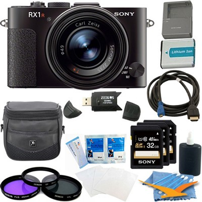 RX1R 24MP Cyber-Shot Full-frame 24.3MP Digital Camera Kit - Black