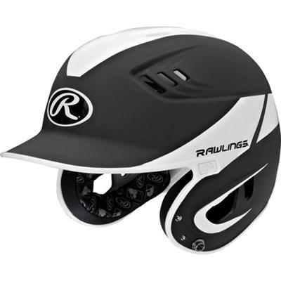 Adult Velo Two-Tone Matte Batting Helmet Black/White 6 7/8 - 7 5/8