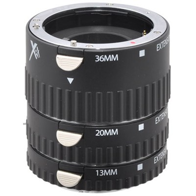 Pro Series Macro Extension (13mm, 20mm & 36mm) Tube Set for Sony (Black) - XTETS