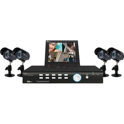 4 channel H.264 01 DVR (500GBHD pre-installed) with 4 pack CMOS cameras