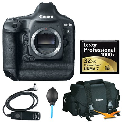 EOS-1D X Digital SLR Camera Body Plus 32 GB Memory Bundle