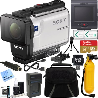HDR-AS300R Action Cam + Live View Remote & 64GB Accessory Bundle