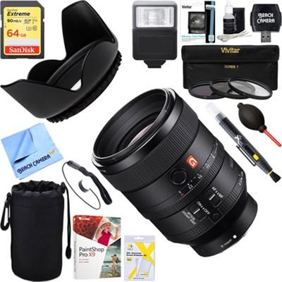 FE 100mm F2.8 STF GM OSS Lens Sony Full-Frame Cameras + 64GB Ultimate Kit