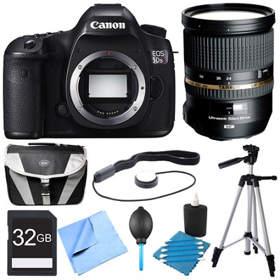 EOS 5DS R 50.6MP Digital SLR Camera Pro Lens Bundle