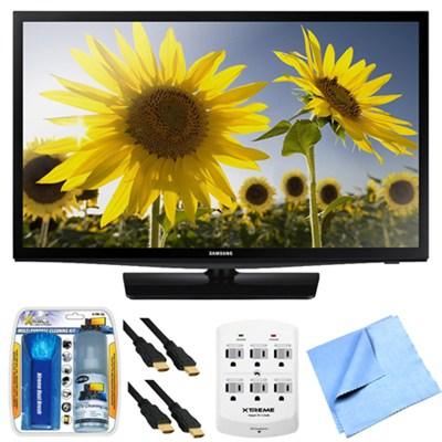 UN28H4500 28-inch HD 720p Smart LED TV Clear Motion Rate 120 Plus Hook-Up Bundle