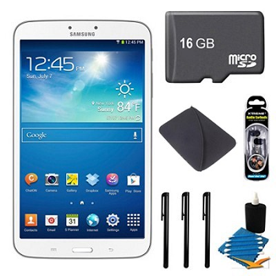 Galaxy Tab 3 (8-Inch, White) + 16GB Micro SDHC and More