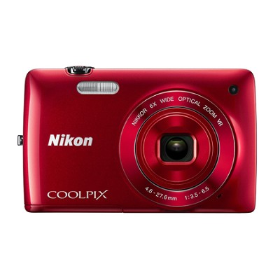COOLPIX S4300 16MP 3` Touchscreen Red Digital Camera