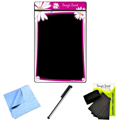 8.5-Inch LCD Writing Tablet (Pink Floral) Stylus Clip/Magnet Bundle