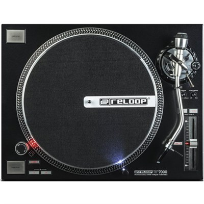 RP-7000 Quartz Driven DJ Turntable with Upper-Torque Direct Drive, Black