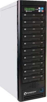 Blu-Ray Tower Duplicator, HDD to 10(6X BD-R/RE, 16X DVD-/+R), 500GB HD