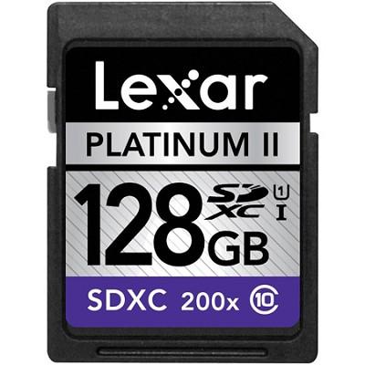 128GB Platinum II Class 10 (200x) SDXC UHS-I Memory Card - LSD128-200-106