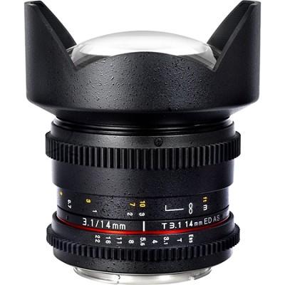 14mm T3.1 `Cine` IF ED Super Wide-Angle Lens for Canon VDSLR