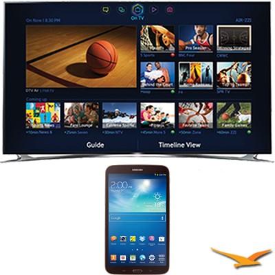 UN75F8000 - 75` 1080p 240hz 3D Smart Wifi LED HDTV - 8-Inch Galaxy Tab 3 Bundle