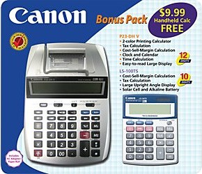 P23-DH miniDesktop Printing Calculator LS-100 Bonus Pack