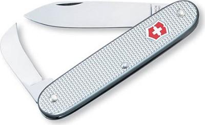 Pioneer Pruner Pocket Knife (Silver Alox Ribbed)