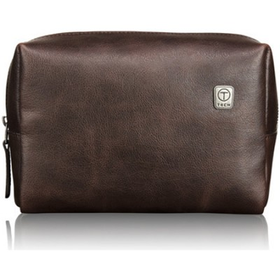 T-Tech Forge Devon Leather Travel Kit 05419B - Brown