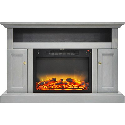 47.2 x15.7 x30.7  Sorrento Fireplace Mantel with Logs and Grate Insert