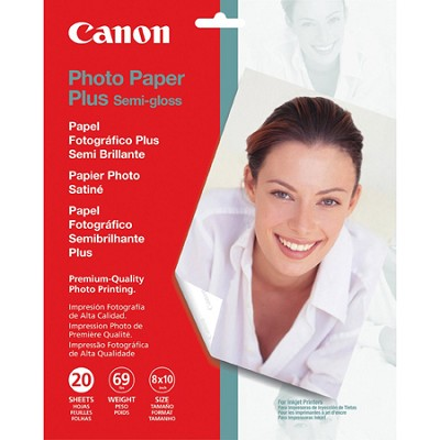 8 x 10 Semi-Gloss Photo Paper Plus, 20 Sheets (1686B017)