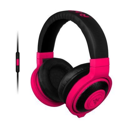 Kraken Mobile Analog Music and Gaming Headset in Neon Red - RZ04-01400300-R3U1