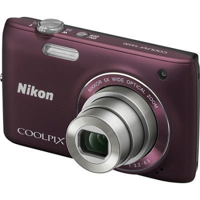 COOLPIX S4100 14MP Plum Compact Digital Camera w/ 3-inch Touch Screen
