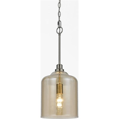 Vision Glass Pendant 1-60W Standard Bulb 24 HX11.5 D Hardwire Only