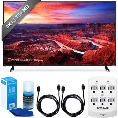 E65-E0 SmartCast 65` UHD Home Theater Display TV w/ Accessory Bundle