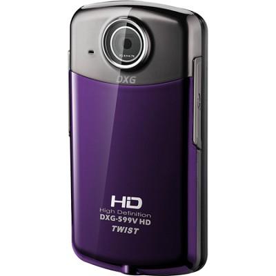 DXG-599V Twist 1080p Violet Pocket Camcorder