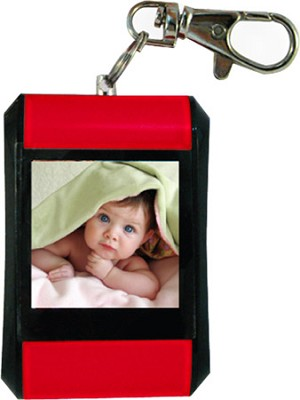 DF15-BK 1.5` Keychain Digital Photo Frame - Holds up to 107 Images (Red)