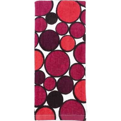 Printed Geometric  Kitchen Towel - Red