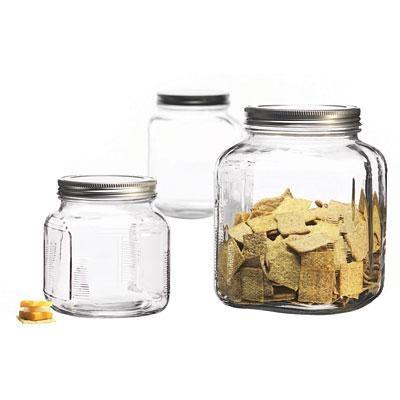 3-Piece Glass Cracker Jar Canister Set - 95705