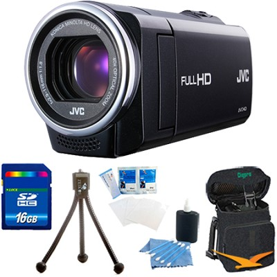 GZ-E10BUS - HD Everio Camcorder 40x Zoom f1.8 (Black) 16 GB Memory Bundle