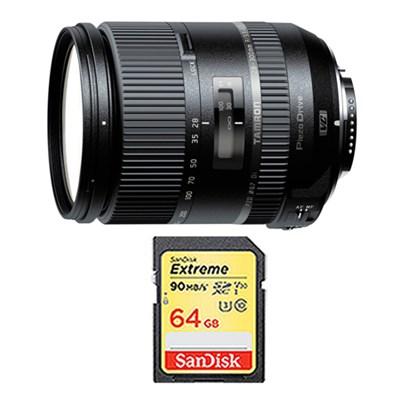 28-300mm F/3.5-6.3 Di VC PZD Lens and 64GB Card Bundle